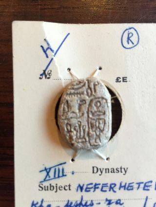 Ancient Egyptian Scarab Beetle Neferhotep I 1740 Bc Nr | Beads Amulet photo