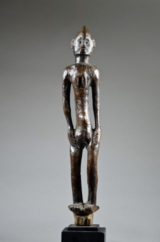 Elegant Tanzanian Female Figure On Stand - Artenegro Gallery African Tribal Arts photo