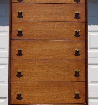 Vintage Mid Century Modern R - Way Six Drawer Two Shelf Lingerie Chest / Dresser photo