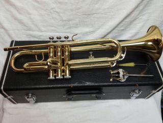 Rare Vintage Antique Jean Baptiste Trumpet Model Tp 180l W/ Hard Case photo
