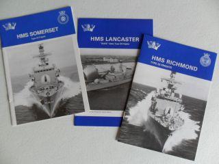 Navy Hms Lancaster,  Richmond & Somerset Type 23 Frigates Welcome Aboard 1998 photo