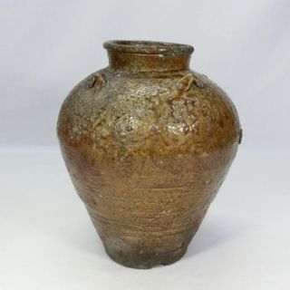 E692: Real Japanese Old Tanba Pottery Vase