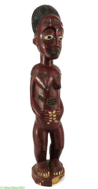 Baule Painted Female Spirit Spouse Ivory Coast African Art Was $190 photo