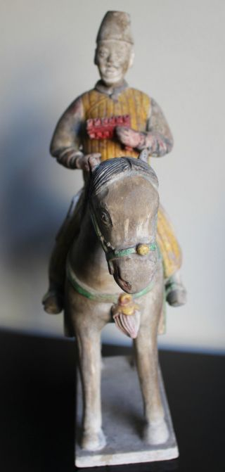 Chinese Ming Dynasty Horse And Rider photo