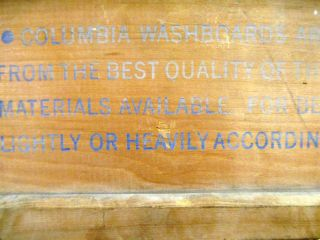 Antique Wood Columbia Snow White Advertising Washboard photo