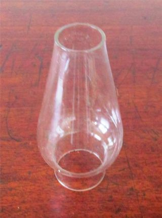 Small Glass Chimney For Oil Lamp.  13cm Tall.  Base 4cm,  Top 2.  7cm photo