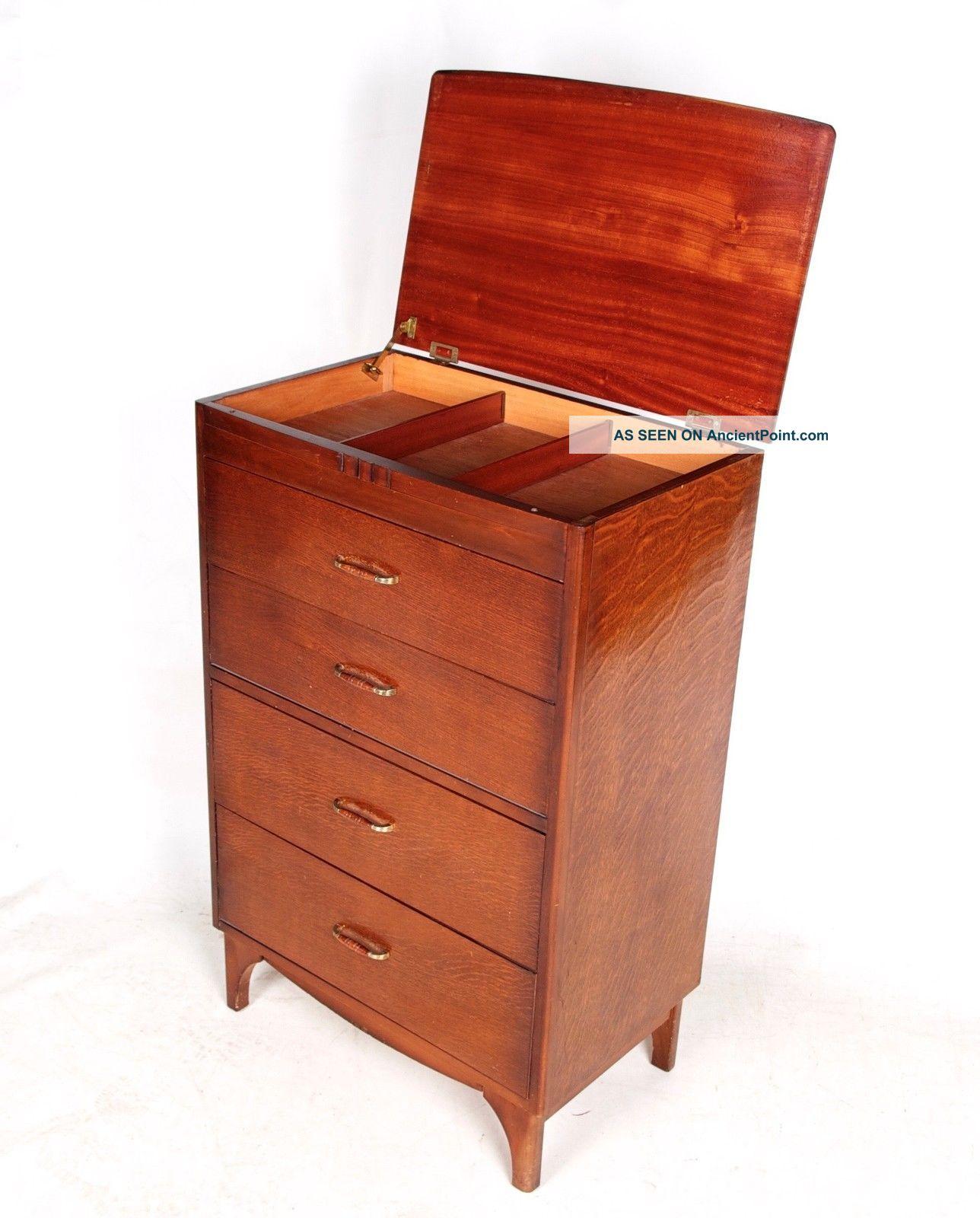 Antique Vintage Oak Tallboy Chest Of Drawers Bachelors Chest French 20th Century photo