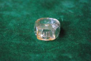 Ottoman Mughal Style Fine Rock Crystal Islamic Ring