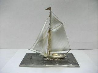 The Sailboat Of Silver985 Of Japan.  100g/ 3.  52oz.  Takehiko ' S Work. photo