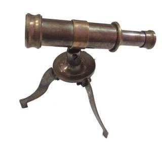 Brass Stanley London Telescope Vintage Antique Table Top Telescope Decorative photo