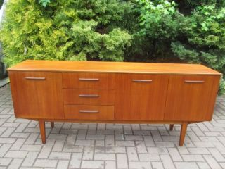 Mid Modern Teak Danish 1960 ' S 3 Drawer Credenza,  Sideboard,  Cocktail Cabinet photo