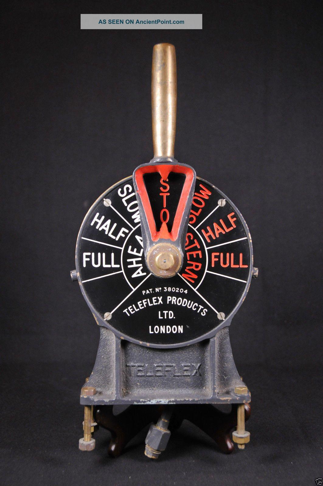 Antique Brass / Bronze Teleflex Ship Marine Engine Telegraph Naval Navy Telegraphs photo