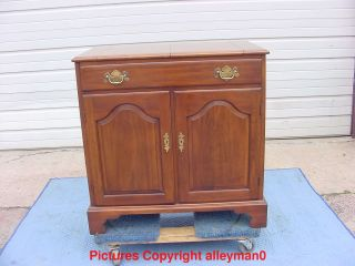 Outstanding Henkel Harris Solid Cherry Dining Room Server Liquor Bar Cabinet photo