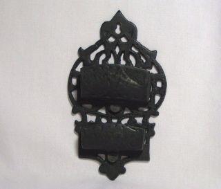 Vintage Cast Iron Double Match Stick Wall Holder Art Strike Surface photo