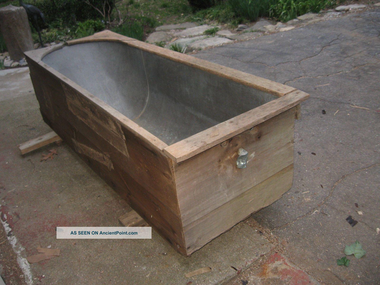 1800s Antique Copper Basin Bath Tub Large 6 ' 2