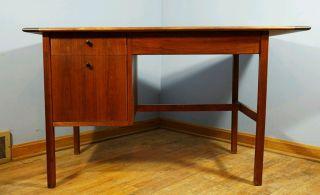 Vintage Danish Modern Style Writing Desk Mid Century Modern photo