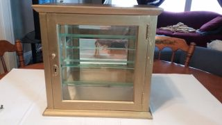 Vintage Glass 3 Shelf Display Case photo