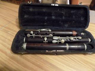 Antique Nach H.  F.  Meyer Hannover Wooden Flute C870 photo