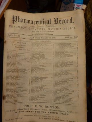 Rare 1885 Drugstore Apothecary Herbs Cures Cannabis Quack Med photo