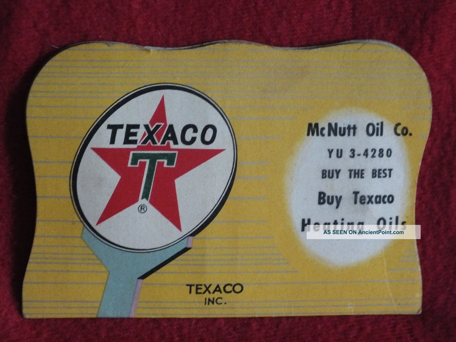 Texaco Sewing Needle Packet,  From Mcnutt Oil Co In Maryville Knoxville Tn Needles & Cases photo