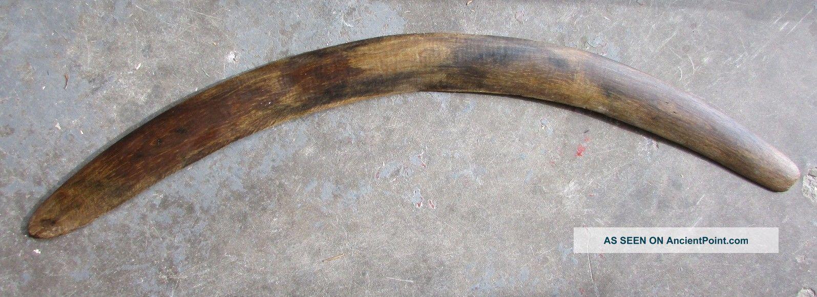 Large Old Central Australian Aboriginal Boomerang Pacific Islands & Oceania photo