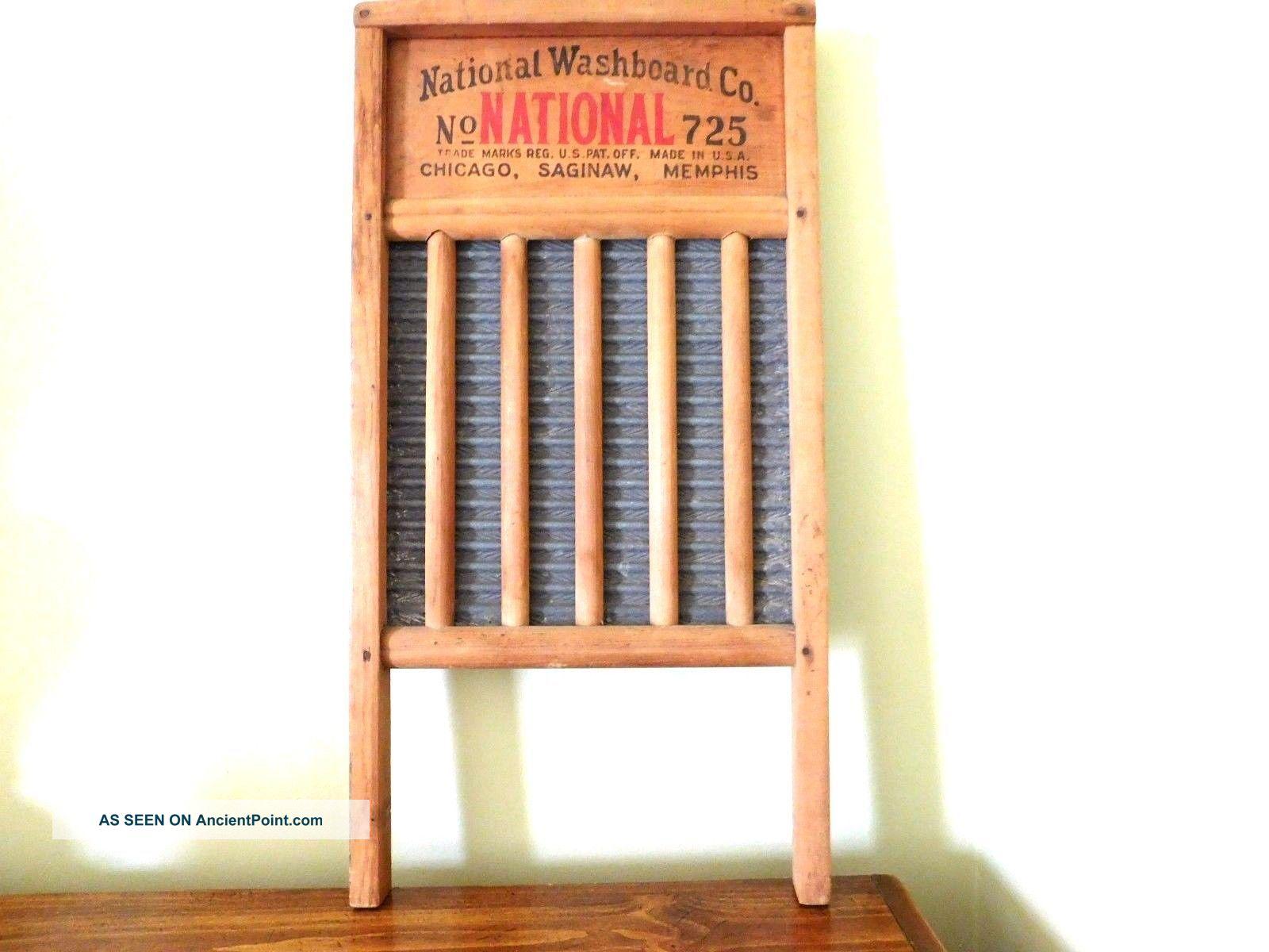 Vintage National Washboard Co.  725 Wood Aluminum