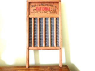 Vintage National Washboard Co.  725 Wood Aluminum