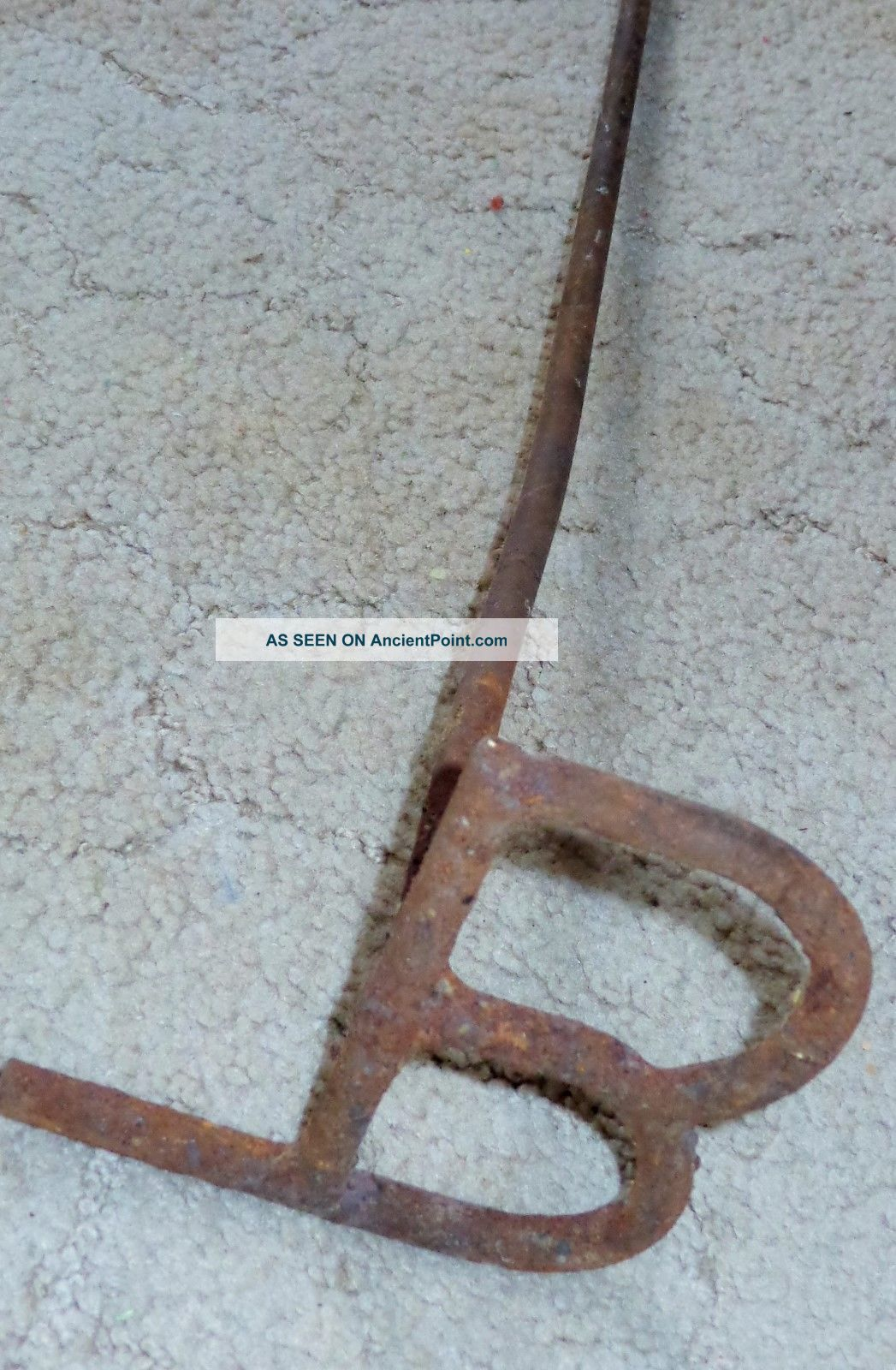 Antique 19th Century Cattle Cow Iron Steel Branding Iron Letter ' B