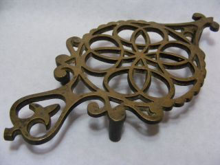 Victorian Brass Kettle Or Iron Trivet photo