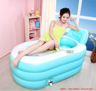 Adult Spa Inflatable Bath Tub With Air Pump Blue Color photo
