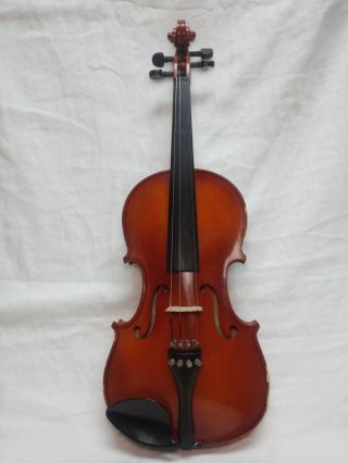 Vintage Antique Mozart By Meisel 3/4 Size Violin No Case And No Bow Model 6104 photo