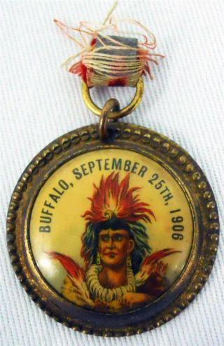 Rare Native American Indian Order Of Red Men Medal Whitehead Hoag Buffalo 1906 photo