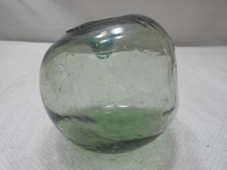 Vintage Glass Fishing Float Textured Dented/dimples 4