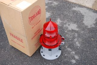Tideland Marine Buoy Latern Ml - 155 Red Fresnel Lens photo