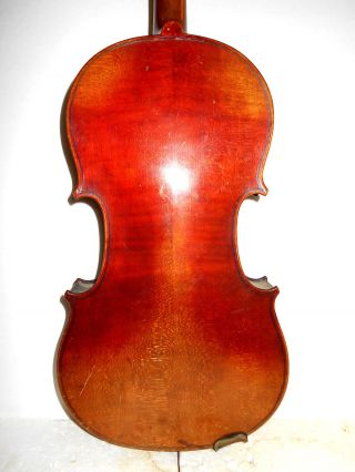 Vintage Old Antique Full Size 2 Pc Back Violin - photo