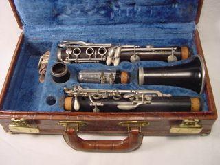 Vintage Clarinet Noblet Paris France W Case photo