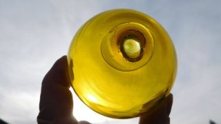 Japanese Yellow Glass Float photo