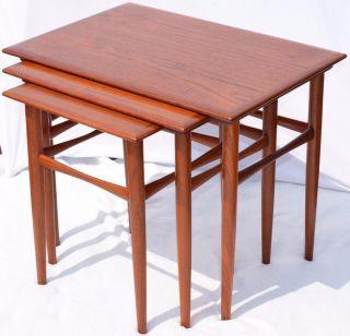 Modern Danish Design - Teak Nesting Tables - Panton Era photo