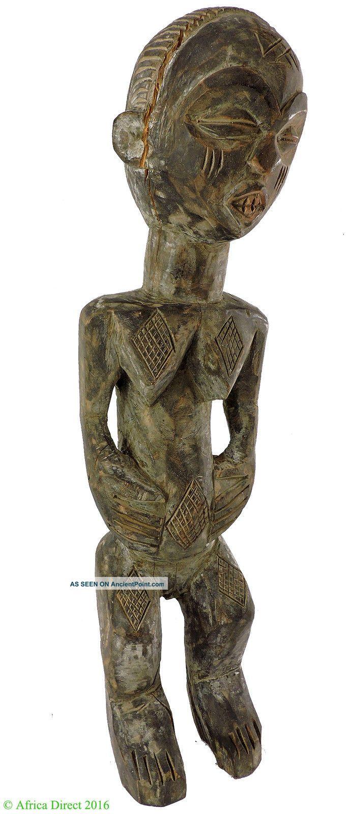 Baule Maternity Figure Cote D ' Ivoire African Art 18 Inch Was $75 Sculptures & Statues photo