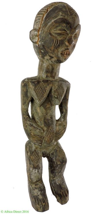 Baule Maternity Figure Cote D ' Ivoire African Art 18 Inch Was $75 photo