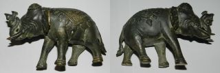 India : Old Bronze Elephant photo