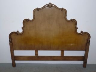 Vintage Union National French Provincial Headboard Queen 100605 photo