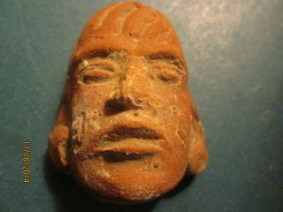 Very Old Pre Columbian Clay Head photo