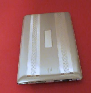 Art Deco Solid Sterling Silver Cigarette Or Card Case Elgin - American No Monos photo
