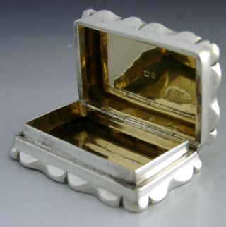 Victorian Sterling Sterling Silver Engine Turned Snuff Box 1899 Antique photo
