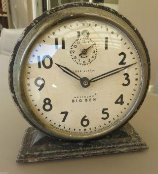 Vintage 1930 ' S - Westclox Big Ben - Wind Up Alarm Clock - Not photo
