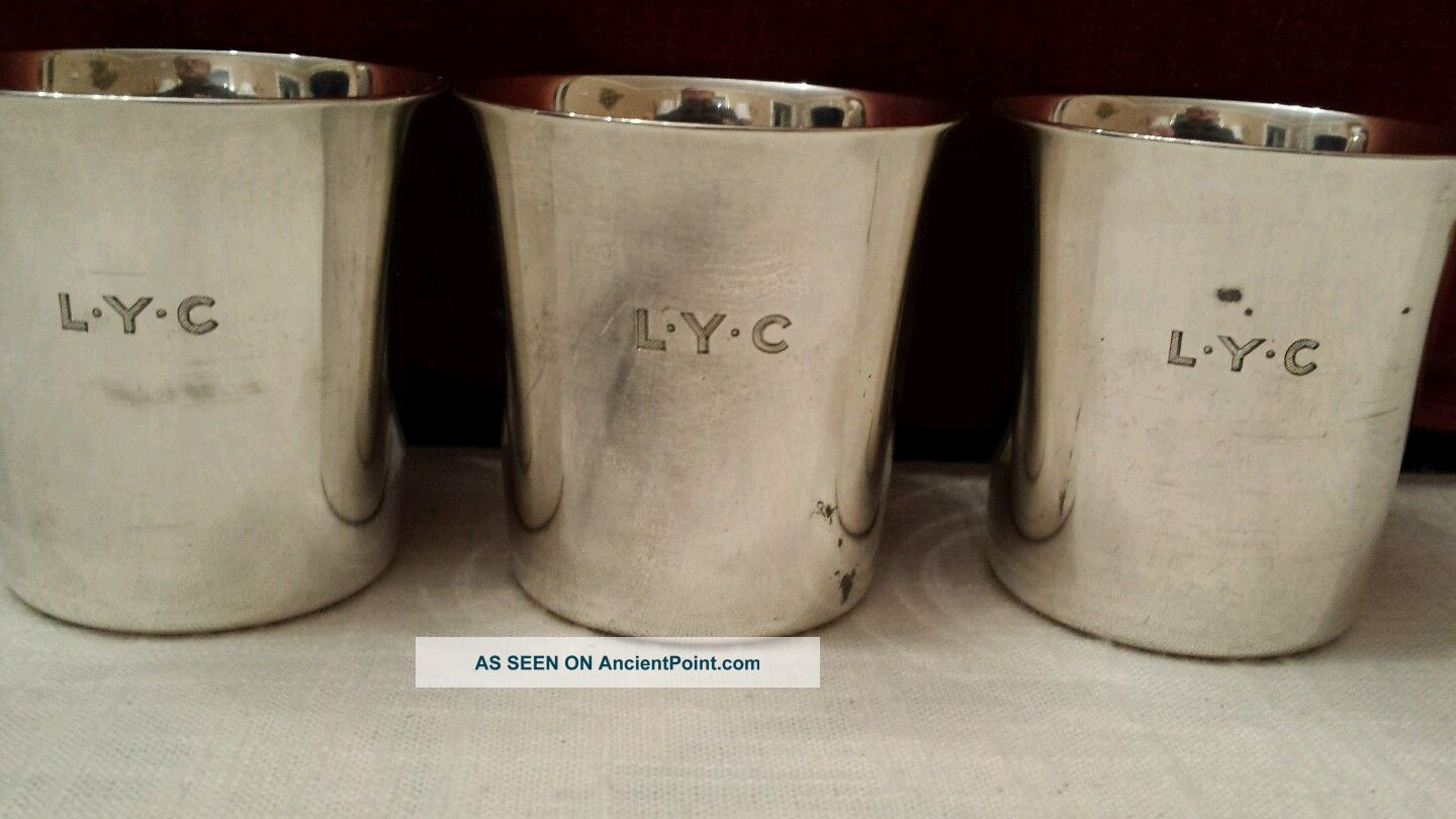 3 Vintage Tiffany & Co Makers Sterling Silver 2.  5
