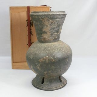 E952: Rare Very Big Korean Excavated Earthenware Vessel Of Silla Called Shiragi photo