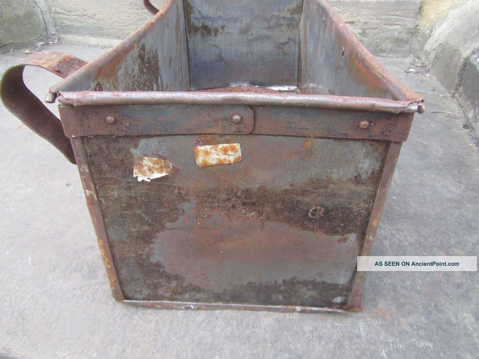 Metal Trough Bathtub : Large Antique Metal Trough Tub Planter Box Brass Plaque Industrial ...