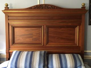 Antique Mahogany Captains Bed photo